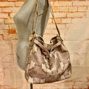 Cole Haan Snakeskin Textured Shoulder Bag